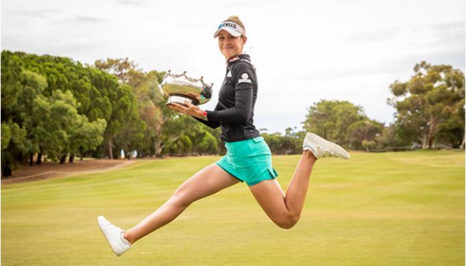 Bộ gậy giúp Nelly Korda giành chiến thắng tại ISPS Handa Women's Australian Open