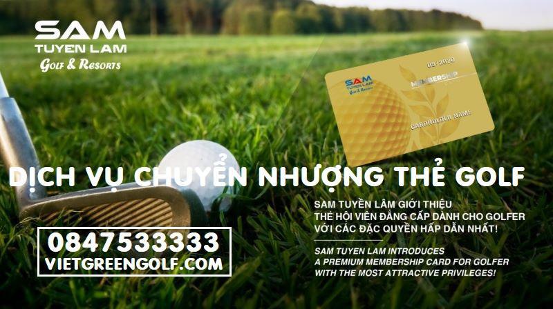 Dịch vụ ký gửi chuyển nhượng thẻ hội viên Golf