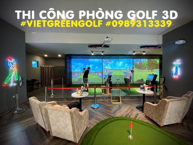 Quy trình lắp đặt phòng chơi golf 3D