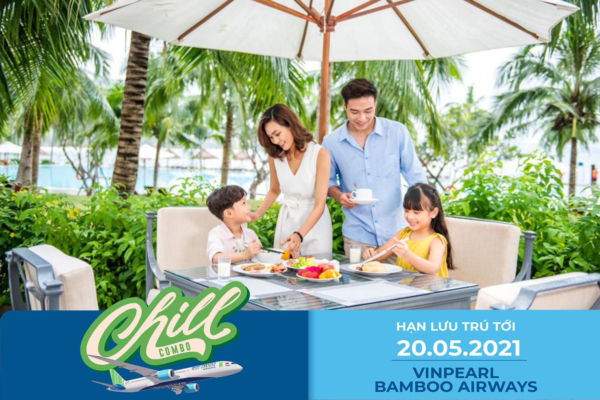 [HCM-Đà Nẵng/Hội An] CHILL COMBO 3N2Đ Phòng/ Villa Vinpearl + VMB Bamboo Airways + 03 bữa ăn mỗi ngày + 6 bữa buffet